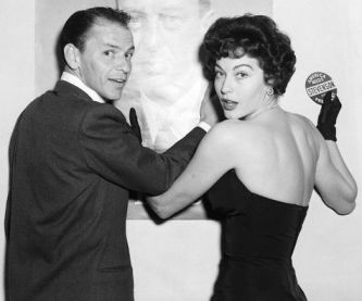 Frank Sinatra and Ava Gardner at Political Rally