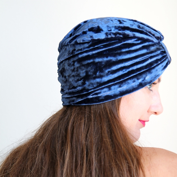 Navy-Blue-Velvet-Turband-View-3