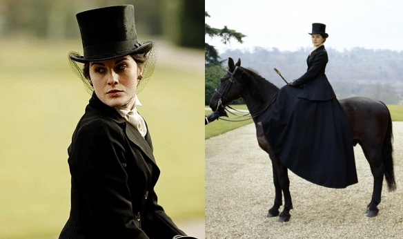 Downton Abbey - Lady Mary Crawley riding