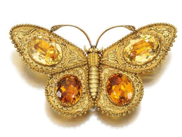 Lot-55-Gold-and-citrine-brooch-Early-19th-Century