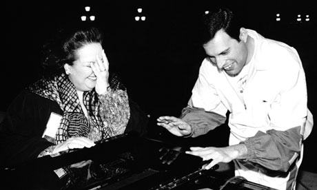 Freddie Mercury and the mezzo-soprano Montserrat Caballé
