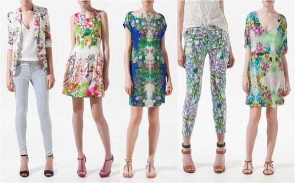 Floral Fashion Trend zara