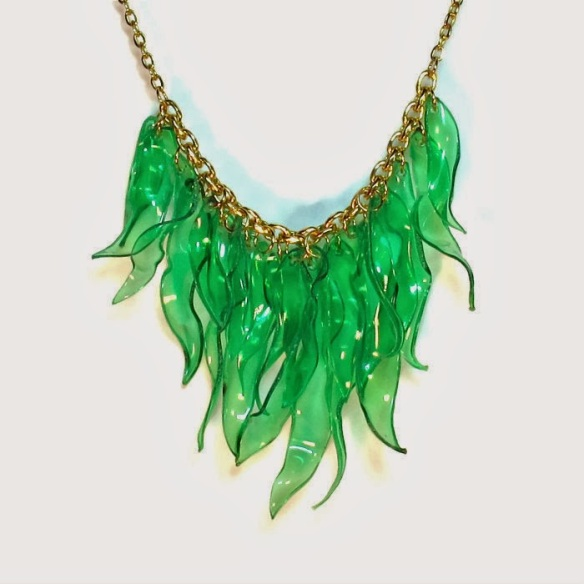 recycled plastic necklace michelle brand