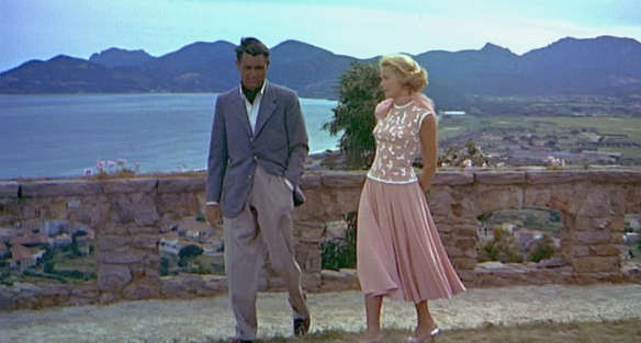 To-Catch-a-Thief_Grace-Kelly-Cary-Grant-coral-top-skirt_front-full