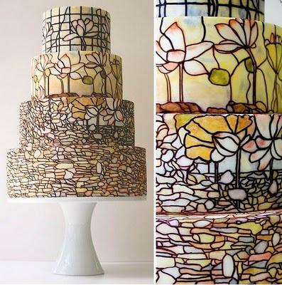 Tiffiany+Inspired+Wedding+Cake