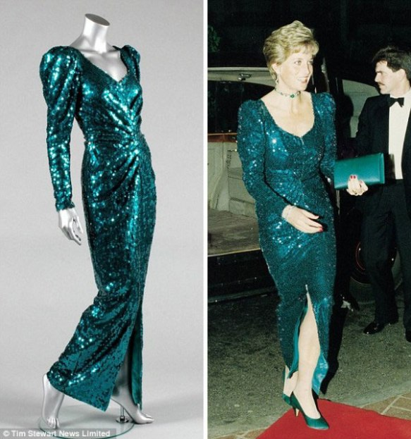 Princess Diana's dresses including the one worn with Travolta at a White House ball are up for auction