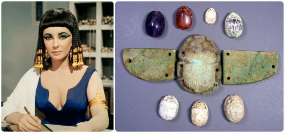 elizabeth-taylor-cleopatra-blue-dress scarabs