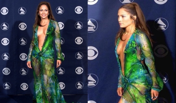 Jennifer-Lopez-Grammy-Green-Dress
