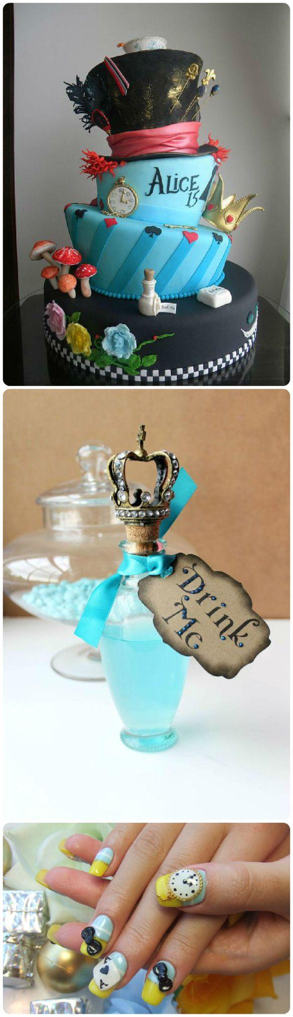 cake nails bottle