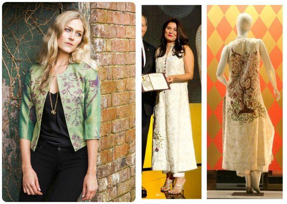 cashmere jacket shibumy style Sharmeen-Obaid-Chinoy-Oscar-Luncheon- sania maskatiya