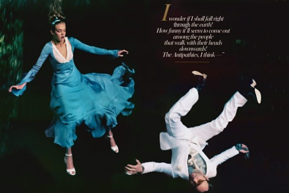 YSL Gauche silk-satin dress  Tom Ford as the White Rabbit