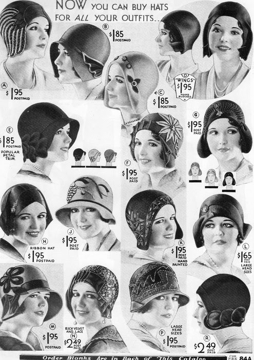 hats of 1930s