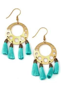 Shining on a Saturday Earrings Mod Cloth