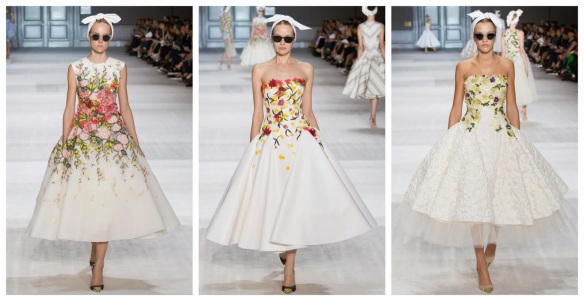 Giambattista Valli Tea Length Embroidered Dresses