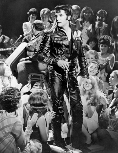 Elvis-68-Special-Black-Leather-Suit-Image-for-Standee