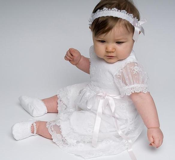 BabyWhiteLaceDress