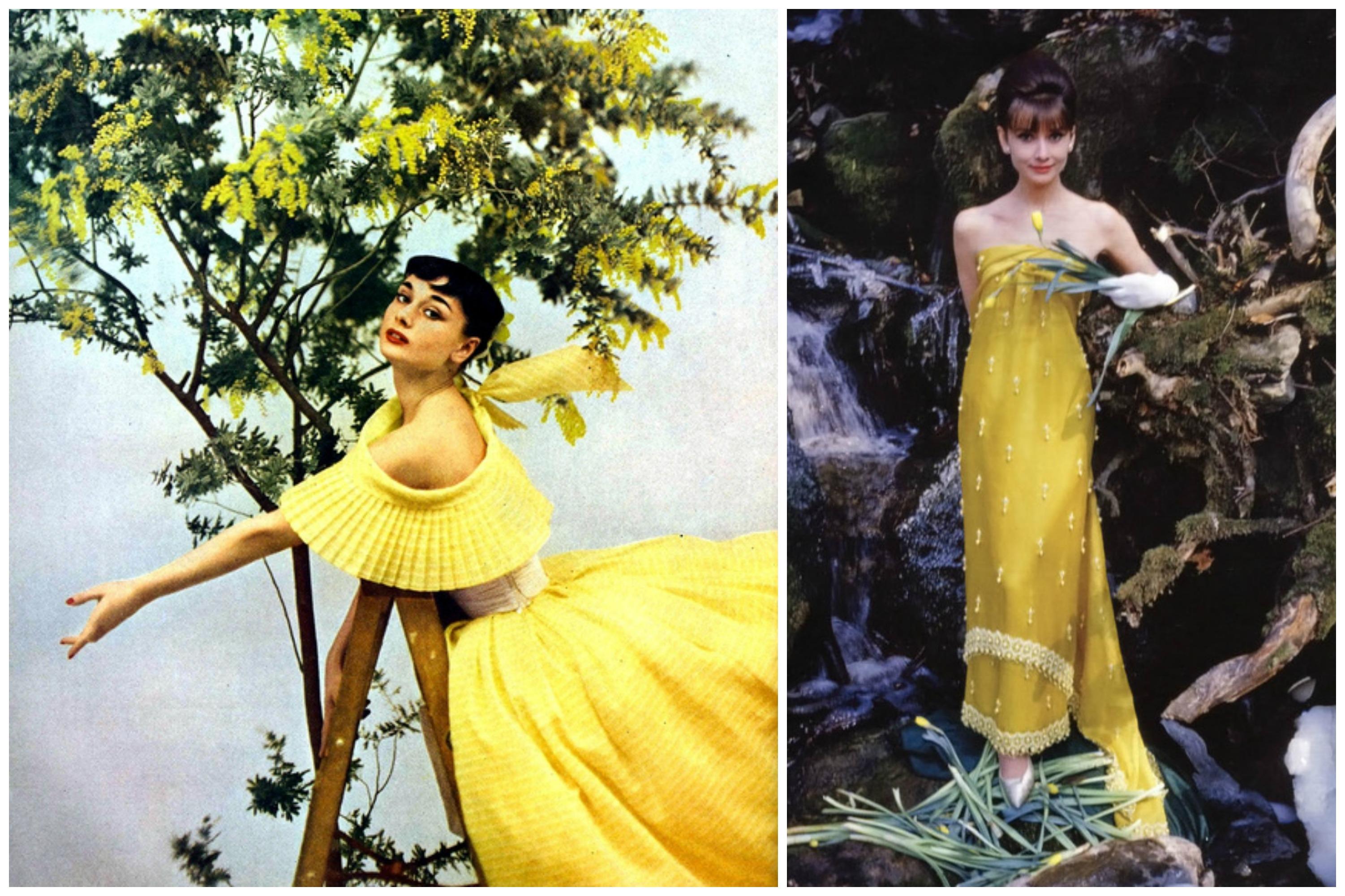 Audrey hepburn dress yellow