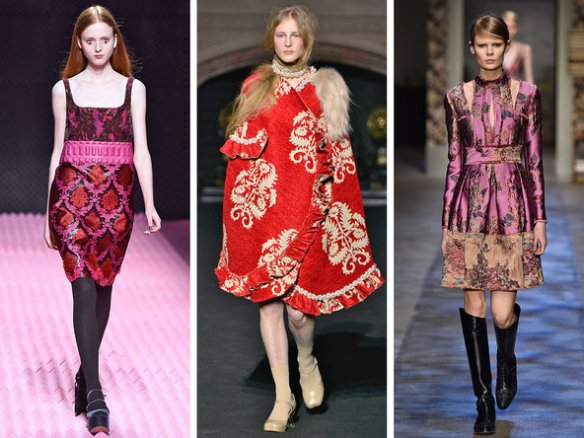 Mary Katrantzou, Simone Rocha and Erdem